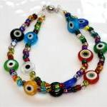Rainbow Millefiori Multicolored Evi..